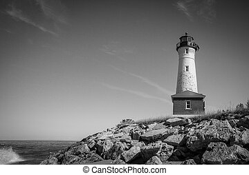 Crisp Point Lighthouse - The Crisp Point Lighthouse is...