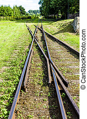 the crossing of normal and narrow gauge, Elk,...