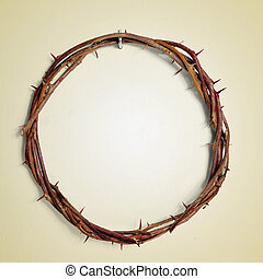 the Crown of Thorns of Jesus Christ, with a retro effect
