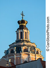 The crown on the roof of the Jesuit Church of St. Casimir