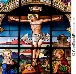 The Crucifixion, Stockholm - Beautiful stained glass window...