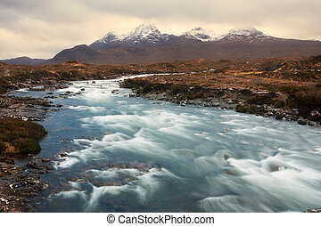 The Cuillins, Isle of Skye seen from Sligachan