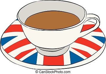 cup with a flag of Great Britain