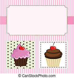 The Cupcakes - Illustration of delicious cupcakes.