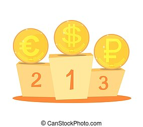 The currency exchange dollar, euro, ruble icon.