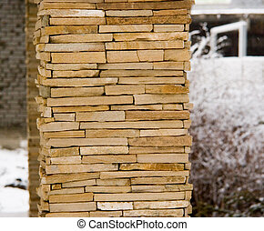 stone-work column - the custom stone-work column with...