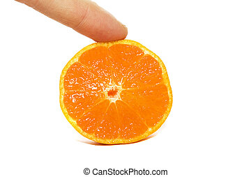 The cut orange