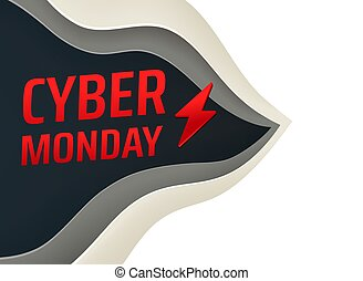 The cyber monday sale banner
