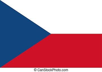 The Czech Republic flag. Vector illustration. Prague