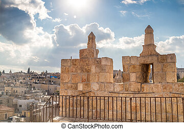 The Damascus gate in the Old City of Jerusalem, Israel
