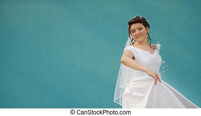 The dancing bride