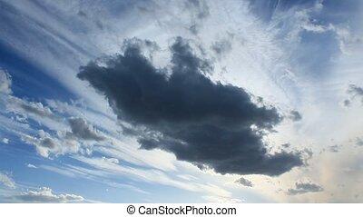 dark cloud on the blue sky