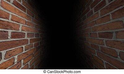 The dark corridor. Tunnel with darkness. 44 - The dark...