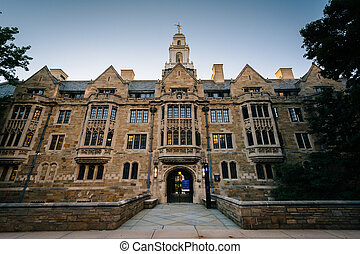 The Davenport College Building at Yale University, in New...