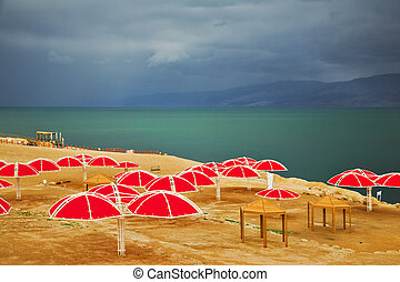 The Dead Sea in thunder-storm