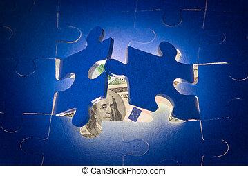 It is a metaphor (new financial opportunities).;