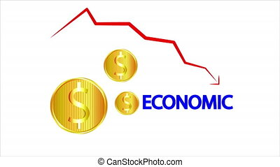 The decline in the economy of gold coins and the fall of the market