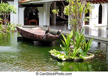 The decoration of luxury hotel, Bentota, Sri Lanka