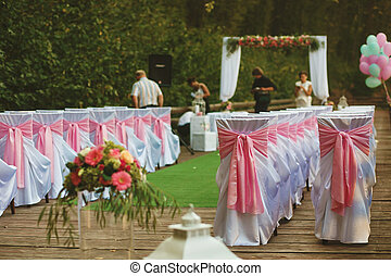 The decorations for wedding ceremony
