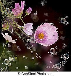 The decorative garden spring flower