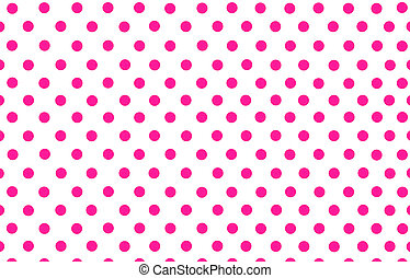 the deep pink polka dot with white background