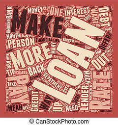 The Defaqto Guide To Loans text background wordcloud concept