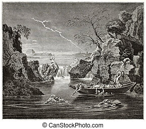 The Deluge - The deluge old pictorial representation. ...