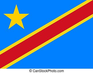 The Democratic Republic of the Congo flag. Vector illustration