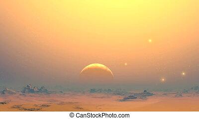 The desert planet of aliens