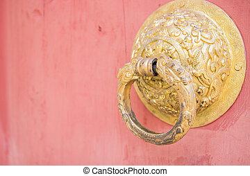 the design art of bhutan door knocker
