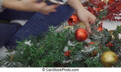 The designer takes the beautiful imitative Cristmas tree to...
