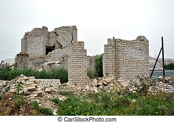 The destroyed building