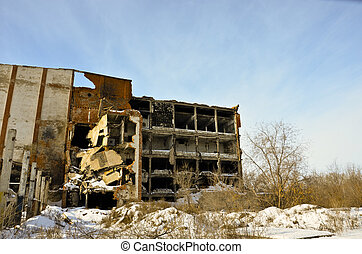 The destroyed factory 4