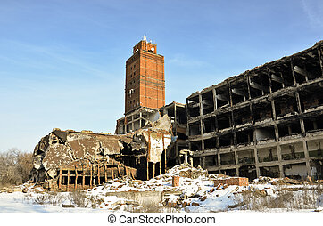 The destroyed factory 5