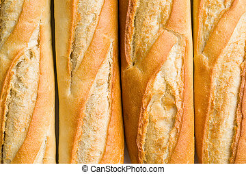 detail of french baguettes