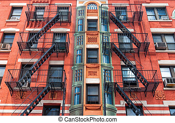 The detail of New York old buildings