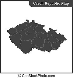 The detailed map of the Czech Republic