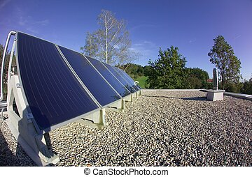 solar panel - the details of a black a solar panel