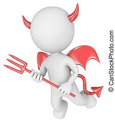 The devil. - Dude the Devil. 3D little human character....