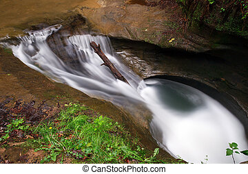 The Devil's Bathtub - Swirling waters in the Upper Gorge at...