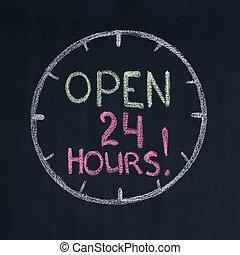 Open 24 hours!
