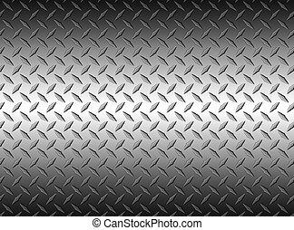 The diamond steel metal texture