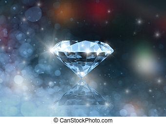 The diamond - Diamond on a colored blurred background
