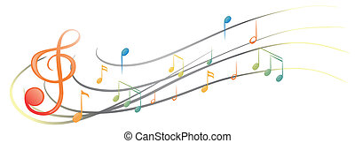 The different musical notes and symbols - Illustration of ...