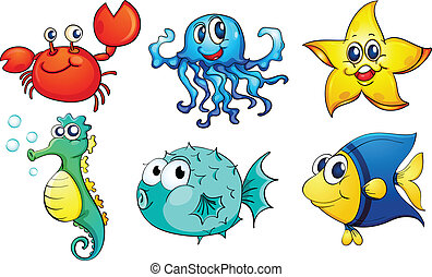 The different sea creatures - Illustration of the different ...