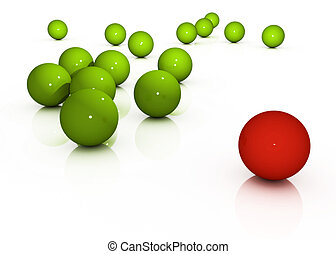 the different sphere - abstract illustration of the...