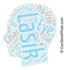 The Different Types Of Laser Eye Surgery text background wordcloud concept