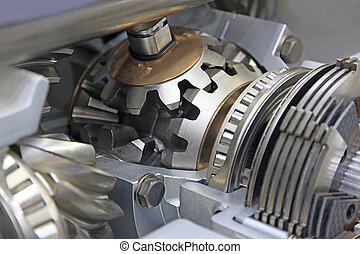 Gear differential transmission with automatic control in the context