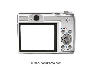 The digital camera isolated over white background