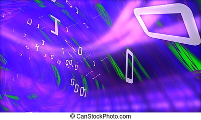 Stock animation representing the digital world in HD